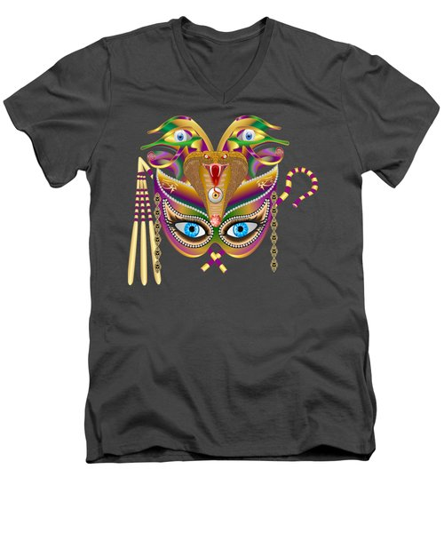 Cleopatra Viii For Any Color Products But No Prints Men's V-Neck T-Shirt by Bill Campitelle