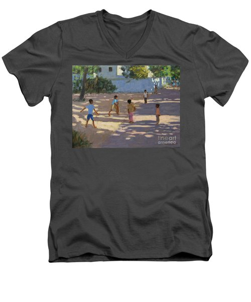Cochin Men's V-Neck T-Shirt by Andrew Macara