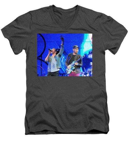 Coldplay6 Men's V-Neck T-Shirt by Rafa Rivas