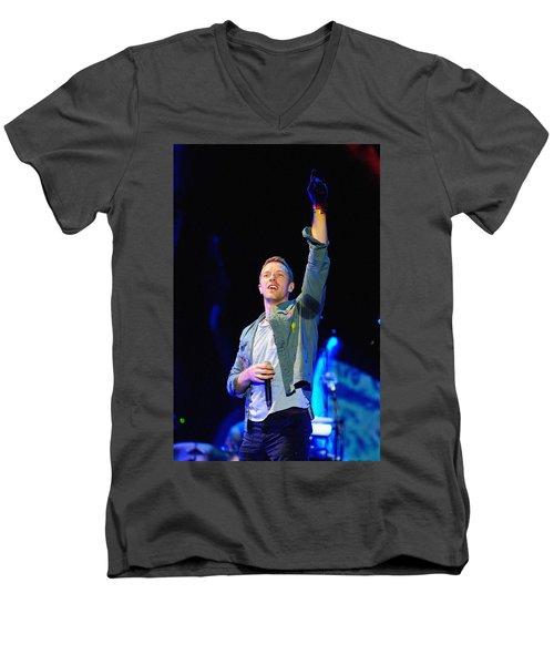 Coldplay8 Men's V-Neck T-Shirt by Rafa Rivas