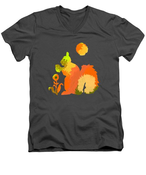 Colorful Squirrel 2 Men's V-Neck T-Shirt by Holly McGee