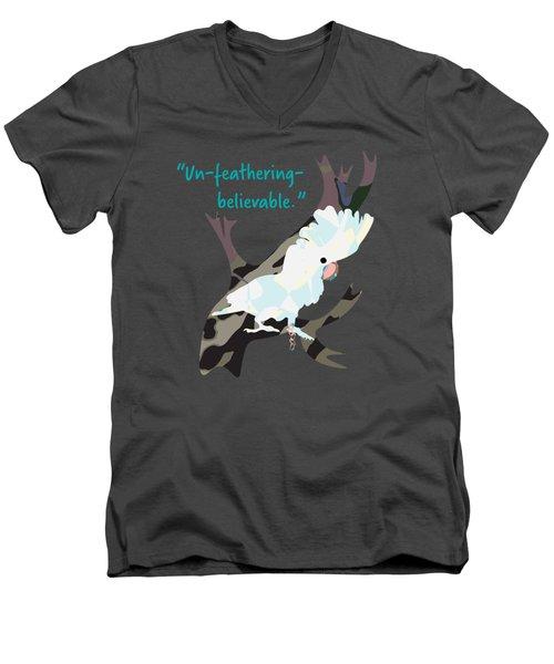 Cookie Cockatoo Men's V-Neck T-Shirt by Geckojoy Gecko Books