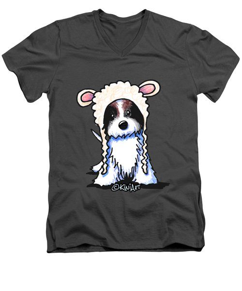 Coton De Tulear Men's V-Neck T-Shirt by Kim Niles
