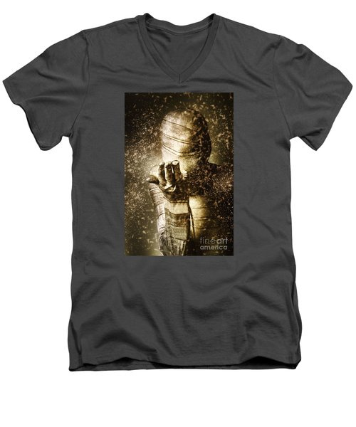 Curse Of The Mummy Men's V-Neck T-Shirt by Jorgo Photography - Wall Art Gallery