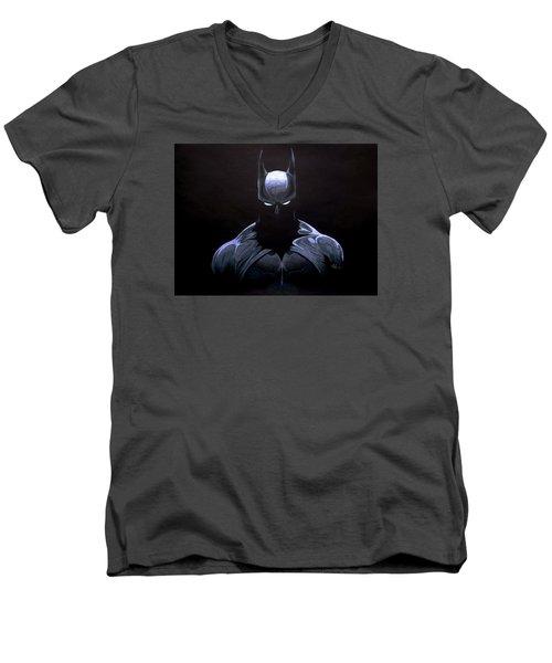 Dark Knight Men's V-Neck T-Shirt by Marcus Quinn