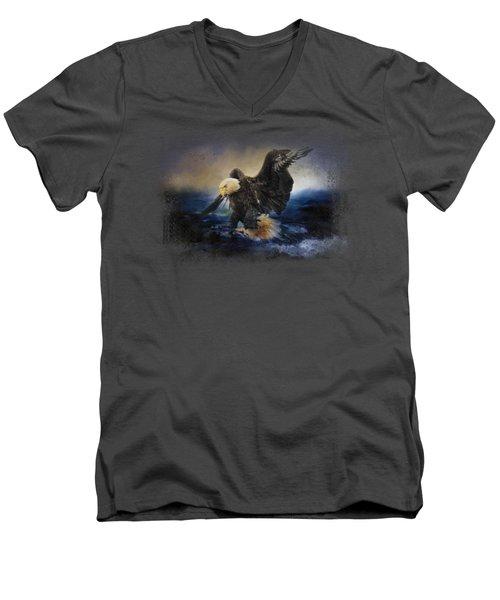 Deep Sea Fishing Men's V-Neck T-Shirt by Jai Johnson