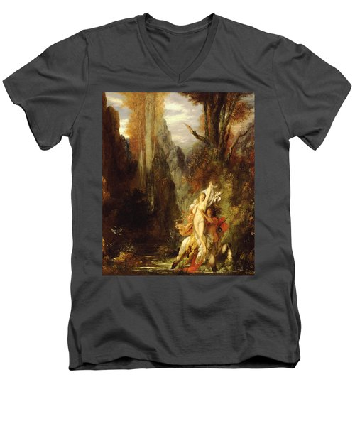 Dejanira  Autumn Men's V-Neck T-Shirt by Gustave Moreau