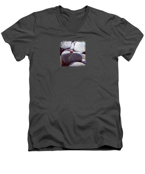 Sunbathing Ladybug Men's V-Neck T-Shirt by Deschips