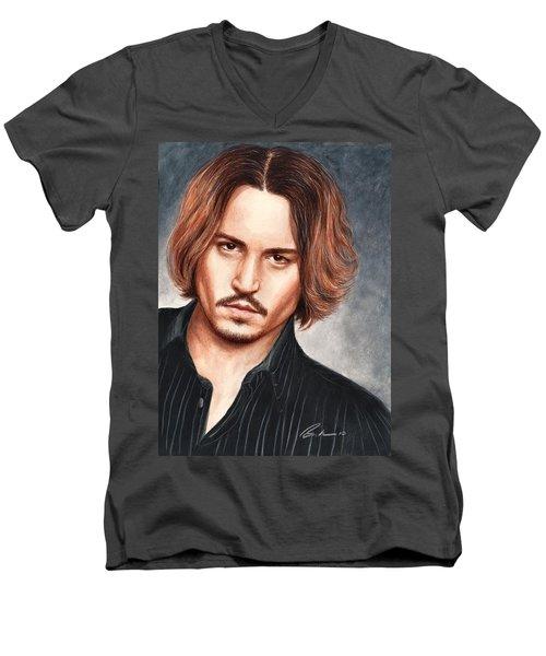 Depp Men's V-Neck T-Shirt by Bruce Lennon