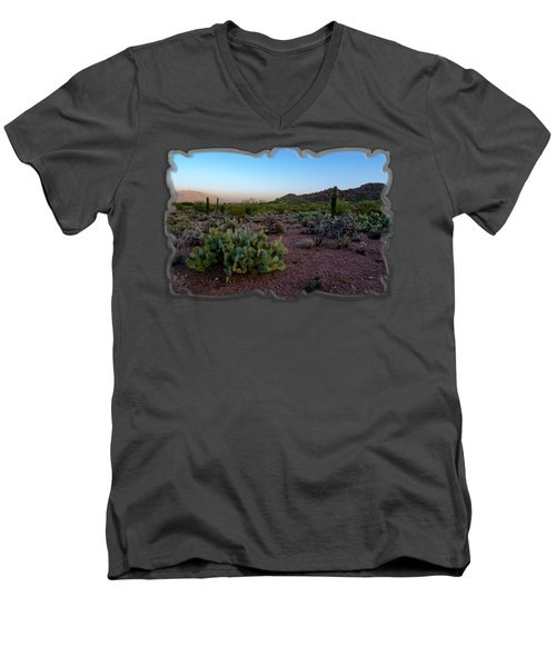 Desert Foothills H29 Men's V-Neck T-Shirt by Mark Myhaver