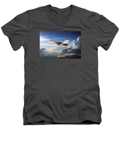 Diamonds In The Sky Men's V-Neck T-Shirt by Peter Chilelli