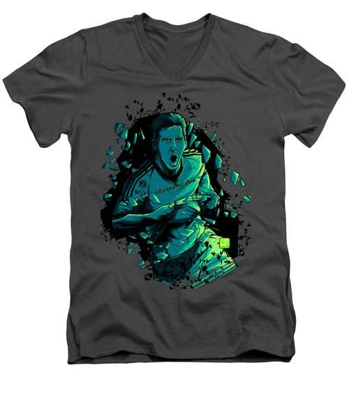 Dieu Men's V-Neck T-Shirt by Akyanyme