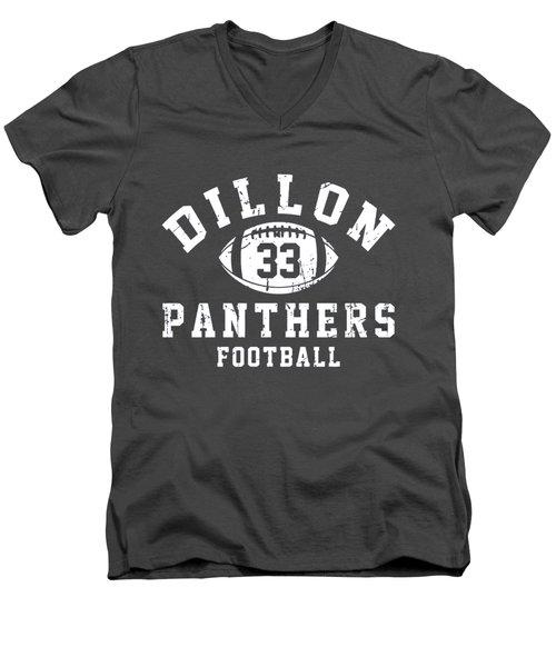 Dillon Panthers Football Men's V-Neck T-Shirt by Pendi Kere
