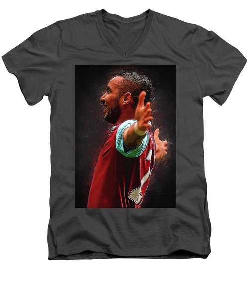 Dimitri Payet Men's V-Neck T-Shirt by Semih Yurdabak