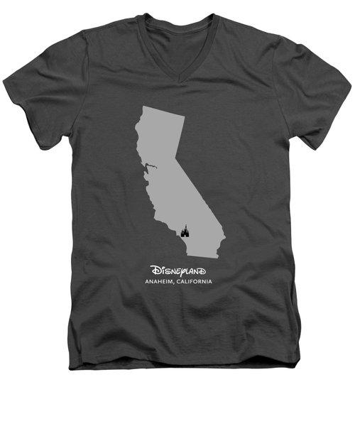 Disneyland Men's V-Neck T-Shirt by Nancy Ingersoll