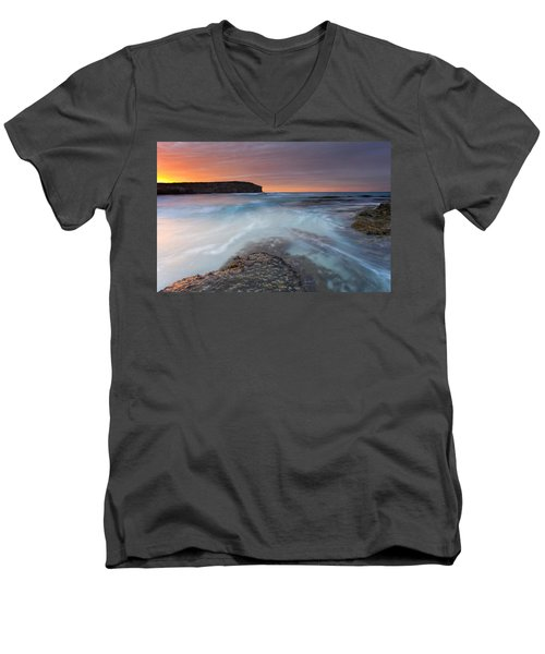 Divided Tides Men's V-Neck T-Shirt by Mike  Dawson