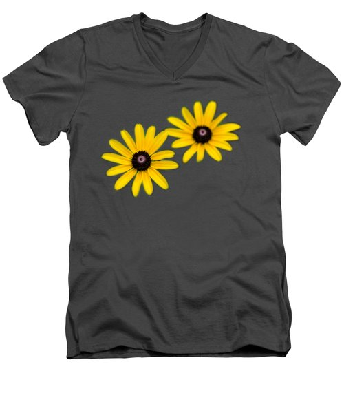 Double Daisies Men's V-Neck T-Shirt by Christina Rollo