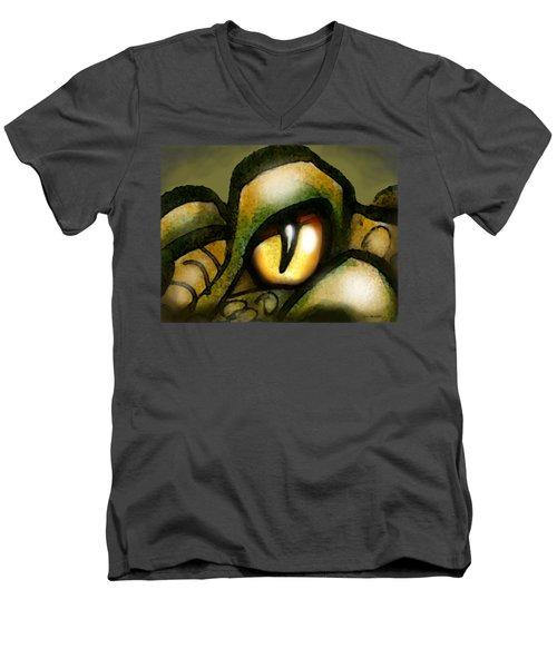 Dragon Eye Men's V-Neck T-Shirt by Kevin Middleton