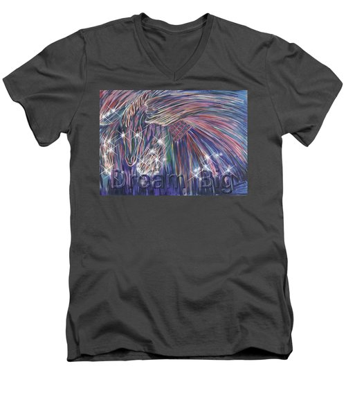 Dream Big Men's V-Neck T-Shirt by Thomas Lupari