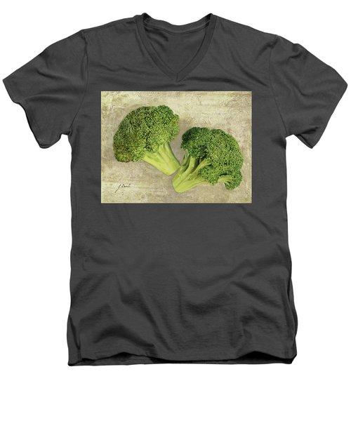 Due Broccoletti Men's V-Neck T-Shirt by Guido Borelli