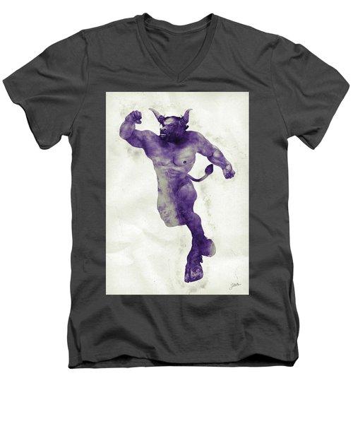 El Torito Guapo Men's V-Neck T-Shirt by Joaquin Abella