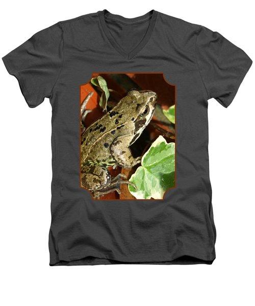 En Route To The Pond Men's V-Neck T-Shirt by Gill Billington