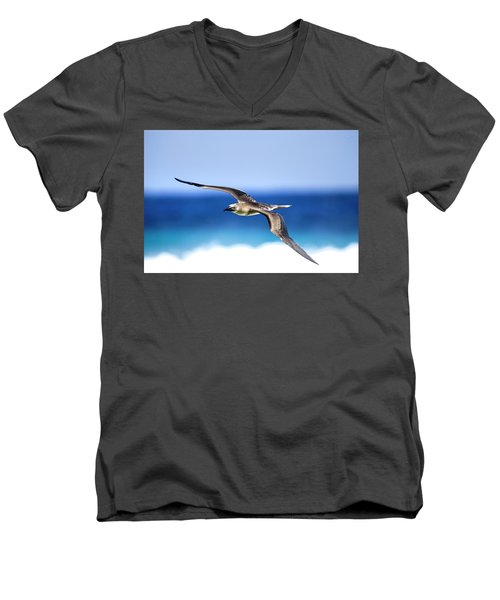 Eye Contact Men's V-Neck T-Shirt by Sean Davey