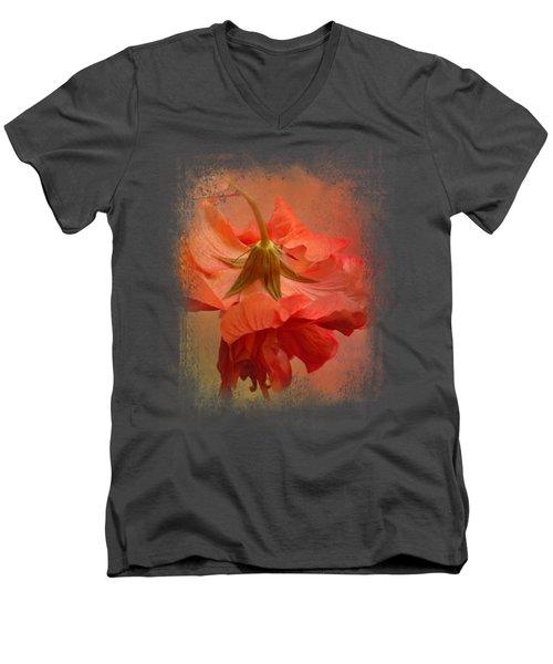 Falling Blossom Men's V-Neck T-Shirt by Jai Johnson