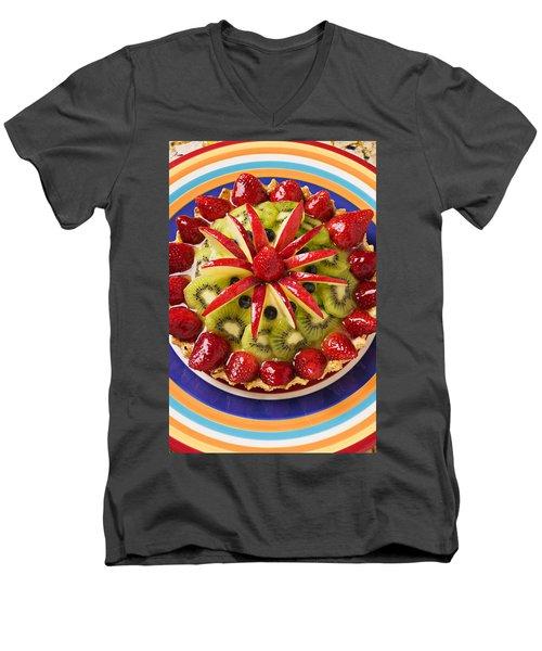 Fancy Tart Pie Men's V-Neck T-Shirt by Garry Gay