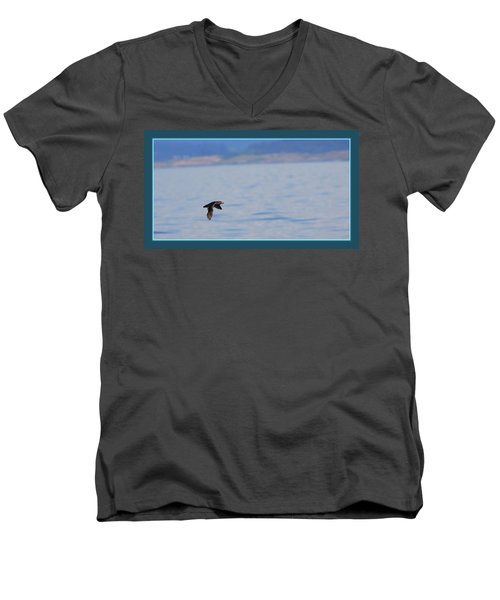 Flying Rhino Men's V-Neck T-Shirt by BYETPhotography