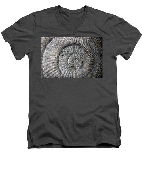 Fossil Spiral  Men's V-Neck T-Shirt by LeeAnn McLaneGoetz McLaneGoetzStudioLLCcom