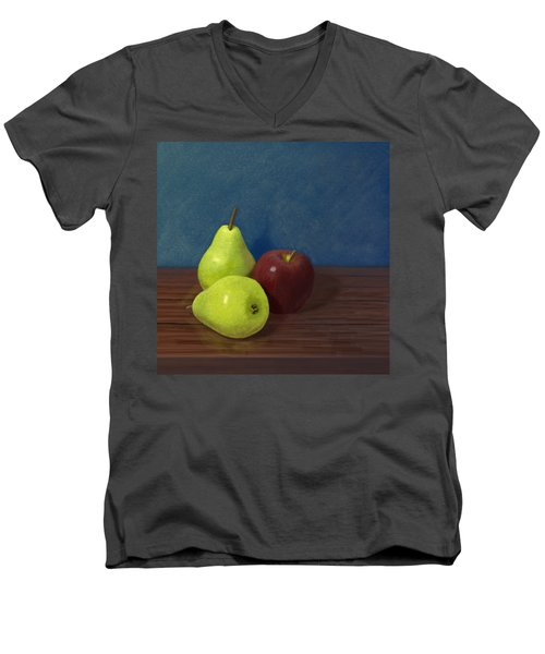 Fruit On A Table Men's V-Neck T-Shirt by Jacqueline Barden