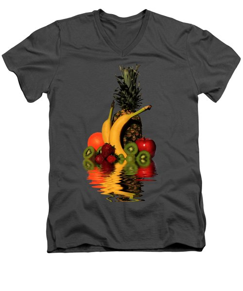 Fruity Reflections - Dark Men's V-Neck T-Shirt by Shane Bechler