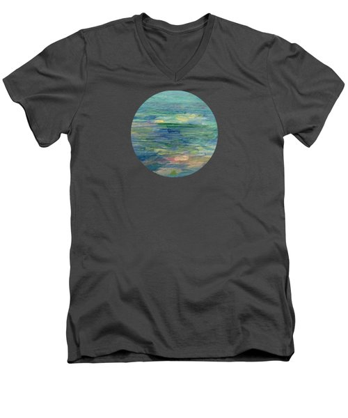 Gentle Light On The Water Men's V-Neck T-Shirt by Mary Wolf