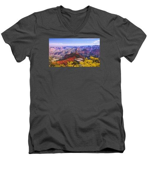 Grand Arizona Men's V-Neck T-Shirt by Chad Dutson