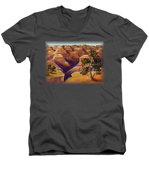 Grand Canyon Men's V-Neck T-Shirt by Anastasiya Malakhova