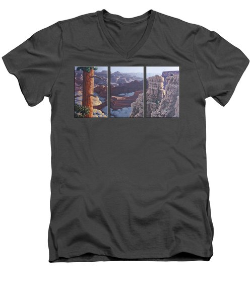 Grand Canyon Dawn Men's V-Neck T-Shirt by Jim Thomas