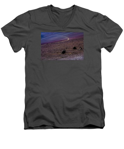 Men's V-Neck T-Shirt featuring the photograph Haleakala 2 by M G Whittingham