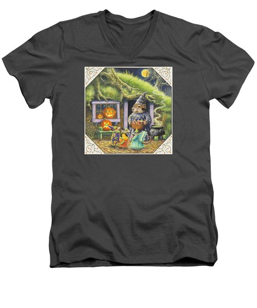 Halloween Costumes Men's V-Neck T-Shirt by Lynn Bywaters