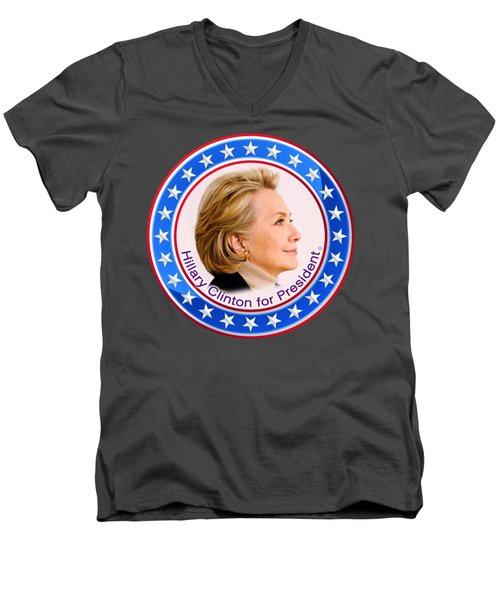 Hillary For President Men's V-Neck T-Shirt by The Art Angel Don