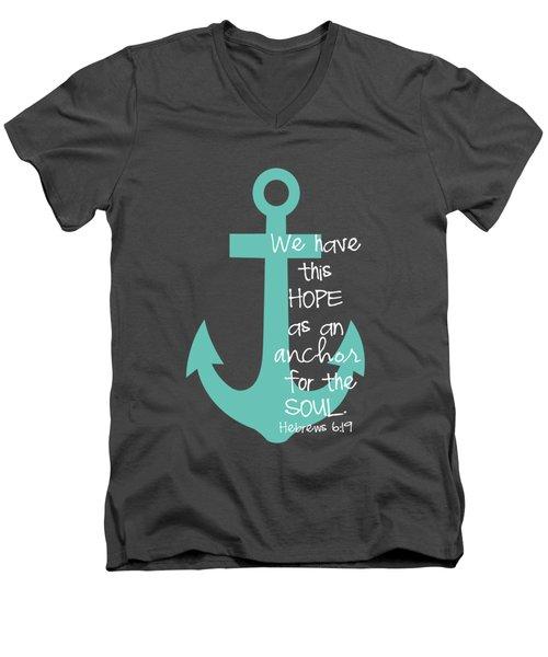 Hope Customizable Background Men's V-Neck T-Shirt by Nancy Ingersoll