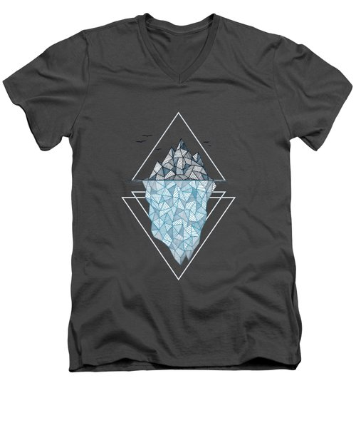 Iceberg Men's V-Neck T-Shirt by Barlena