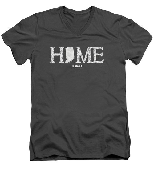 In Home Men's V-Neck T-Shirt by Nancy Ingersoll