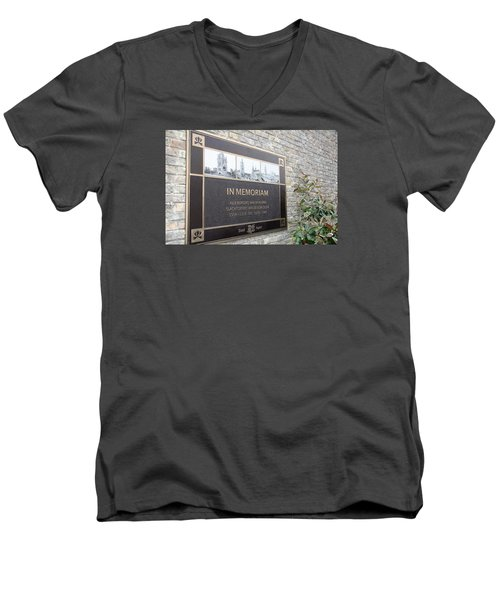 Men's V-Neck T-Shirt featuring the photograph In Memoriam - Ypres by Travel Pics