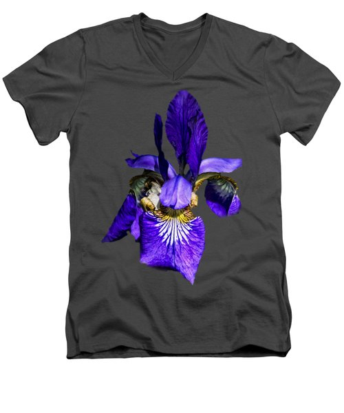 Iris Versicolor Men's V-Neck T-Shirt by Mark Myhaver