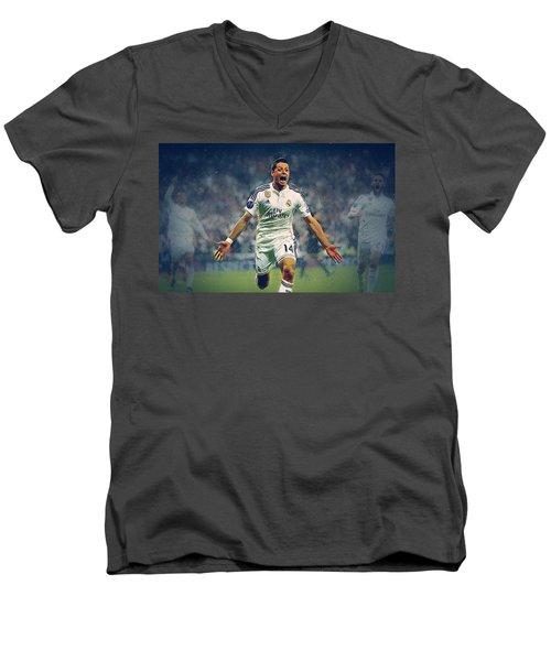 Javier Hernandez Balcazar Men's V-Neck T-Shirt by Semih Yurdabak