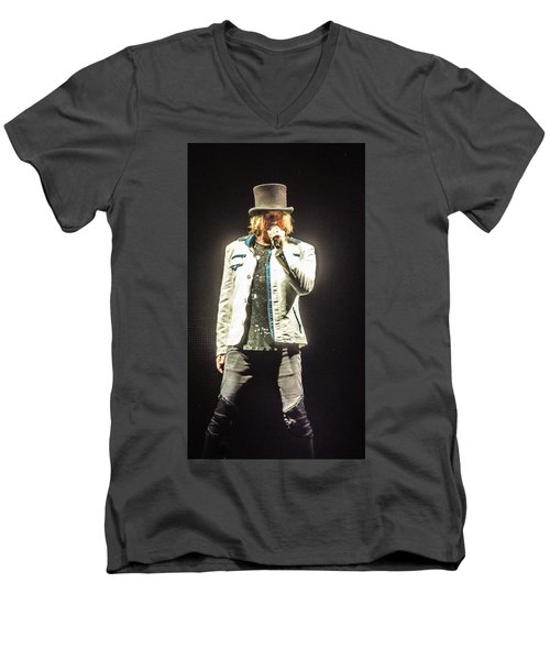 Joe Elliott Men's V-Neck T-Shirt by Luisa Gatti
