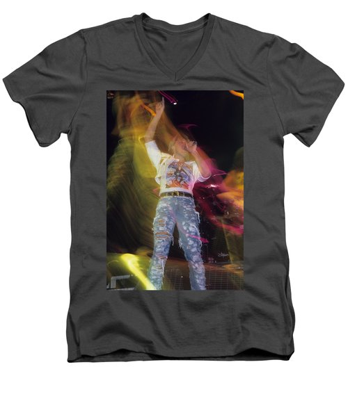 Joe Elliott Men's V-Neck T-Shirt by Rich Fuscia
