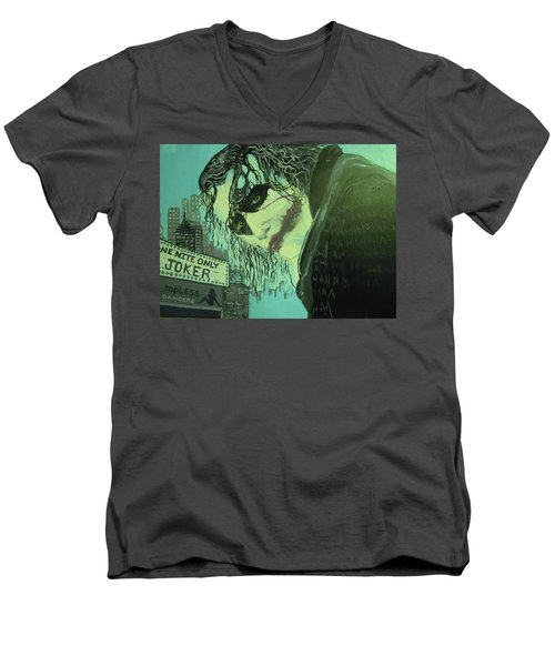 Joker Men's V-Neck T-Shirt by Scott Murphy