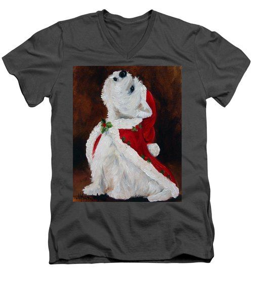 Joy To The World Men's V-Neck T-Shirt by Mary Sparrow